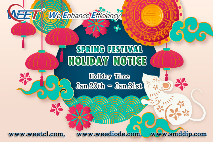 WEE-Technology-WEET-2020-Spring-Festival-Holiday-Notice-Diodes-Rectifiers-Capacitors